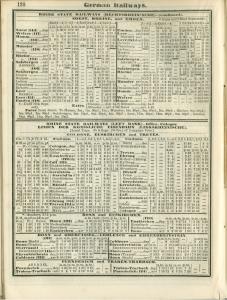 The 1888 Bradshaw timetable for Emden-Rheine