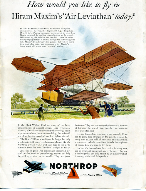 Artists-impression-of-Maxim's-Flying-Machine