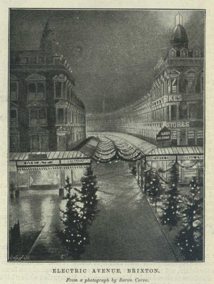 Electric Avenue in 1895. More impressive than the Kiel Canal - possibly.